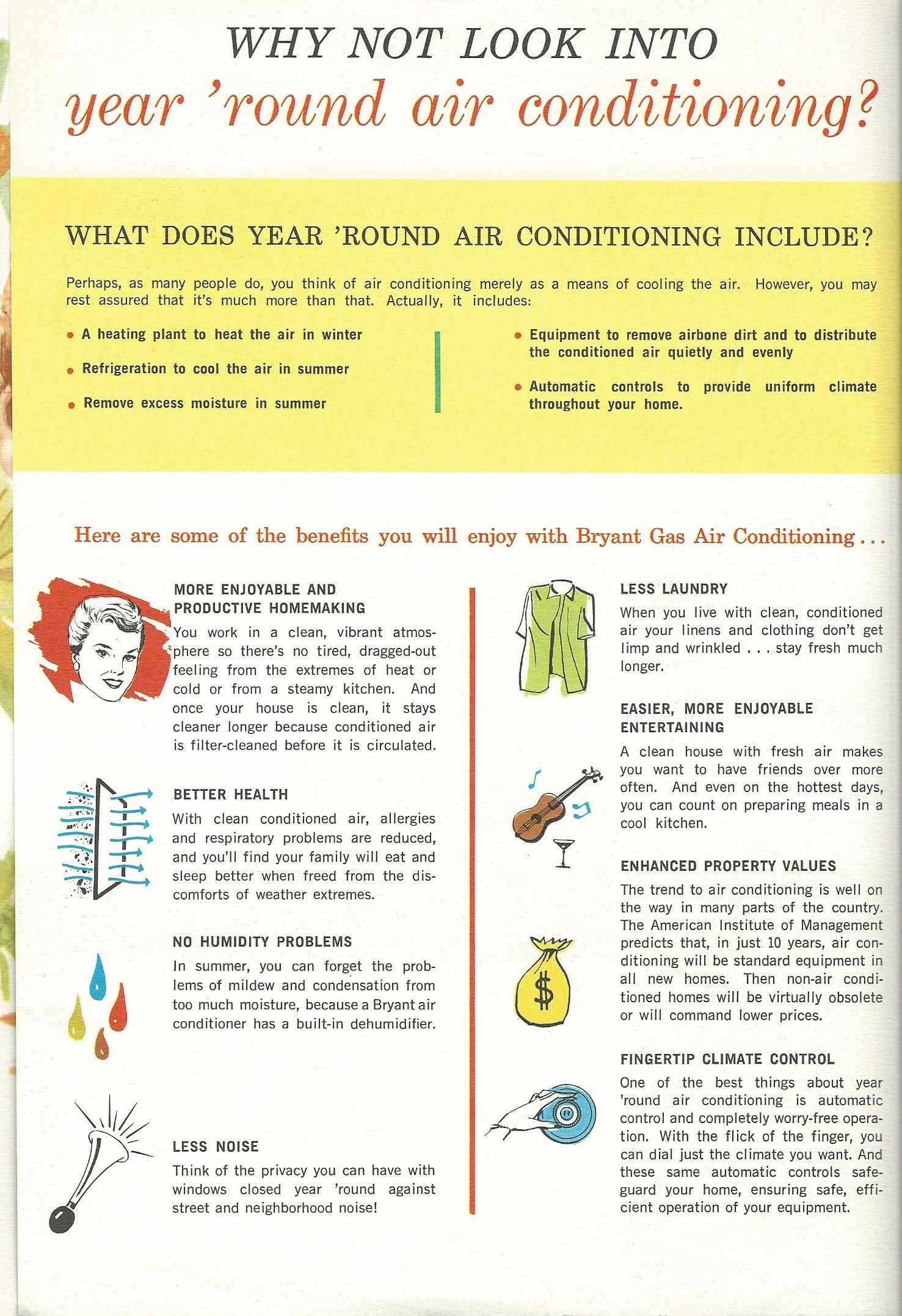 1965 Brochure explaining the benefits of having an air conditioner. #B5A616
